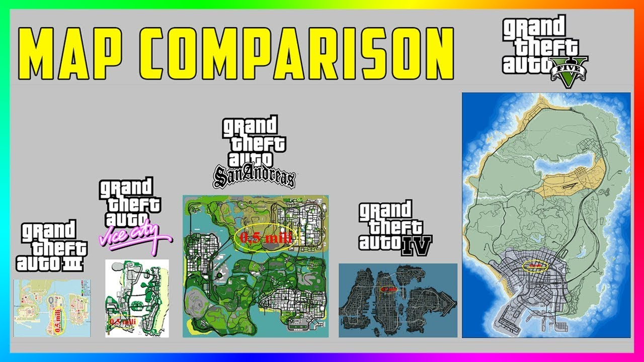 The Most Accurate Gta Map Comparison Ever Gta 5 Vs Gta Iv Vs San